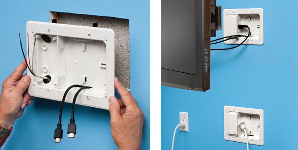 arlington low profile tv bridge kit rh aifittings com in wall wiring kit for tv mounting in wall tv wiring kit home depot